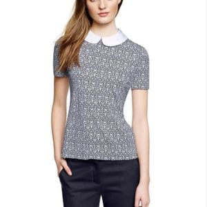 Tory Burch Removable Collar Merrit Blouse Large